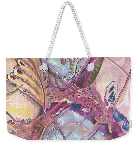 Fish Feathers Weekender Tote Bag