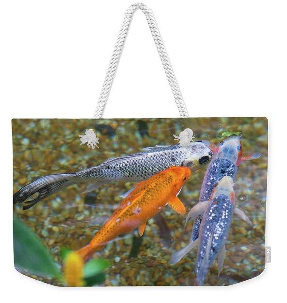 Fish Fighting For Food Weekender Tote Bag