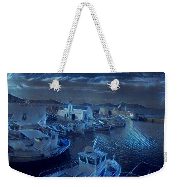 Fish Harbour Paros Island Greece Weekender Tote Bag