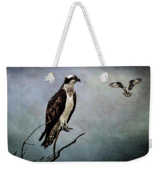 Fish Hawks Weekender Tote Bag