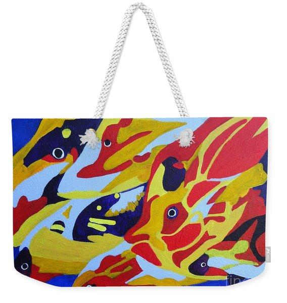 Fish Shoal Abstract 2 Weekender Tote Bag