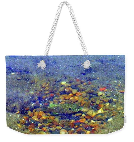 Fish Spawning Weekender Tote Bag