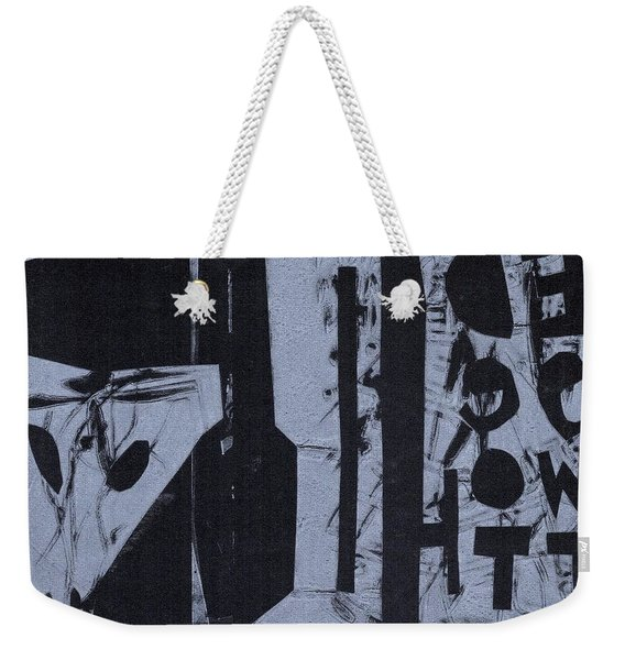 Fisher Covers Reverse White On Black Weekender Tote Bag