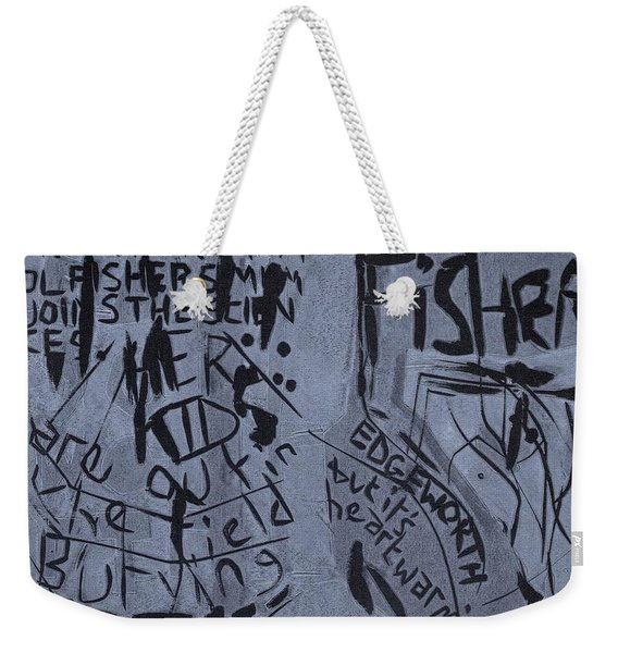 Fisher Covers Unmasked Weekender Tote Bag