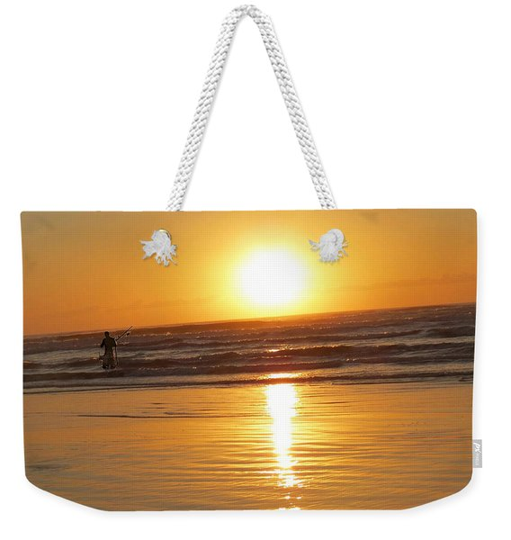 Fisherman At Sunrise Weekender Tote Bag