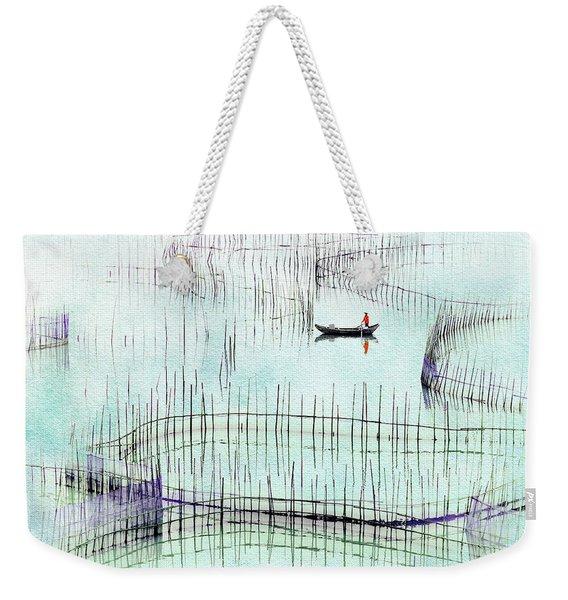 Fisherman Fishing  Weekender Tote Bag