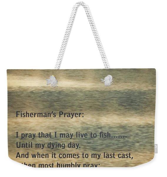 Fisherman's Prayer Weekender Tote Bag