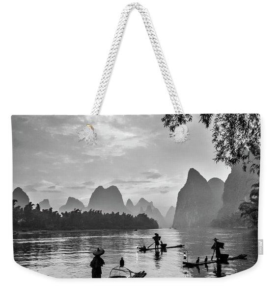 Fishermen At Dawn. Weekender Tote Bag