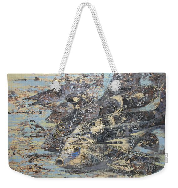 Fishes. Monotype Weekender Tote Bag