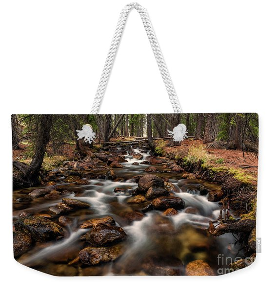 Fishhook Creek Waterscape Art By Kaylyn Franks Weekender Tote Bag