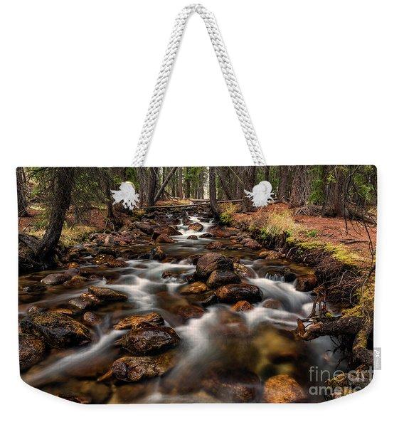 Fishhook Creek Waterscape Art By Kaylyn Franks Weekender Tote Bag