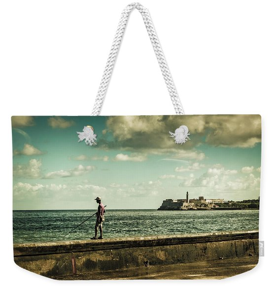 Fishing Along The Malecon Weekender Tote Bag