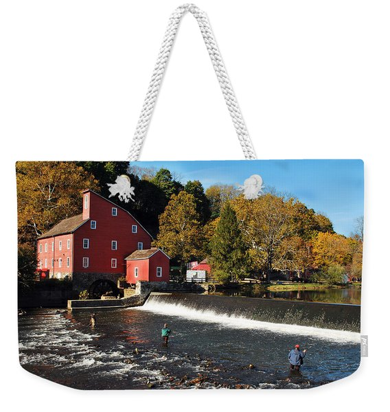 Fishing At The Old Mill Weekender Tote Bag