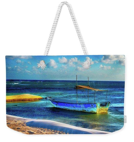 Fishing Boat At Rest Weekender Tote Bag