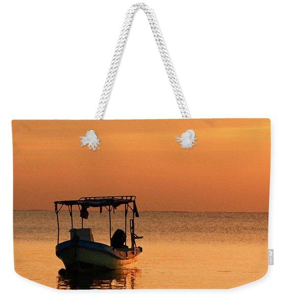 Fishing Boat In Waiting Weekender Tote Bag