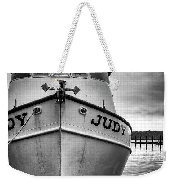 Fishing Boat Judy Weekender Tote Bag
