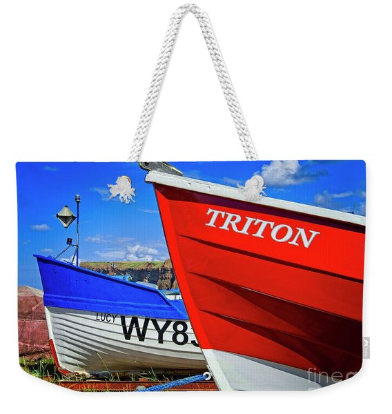 Fishing Boats Saltburn-by-the-sea Weekender Tote Bag