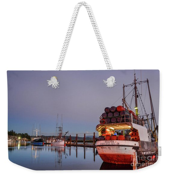 Fishing Boats Waking Up For The Day Weekender Tote Bag
