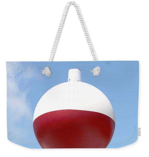 Fishing Bobber Sign Weekender Tote Bag