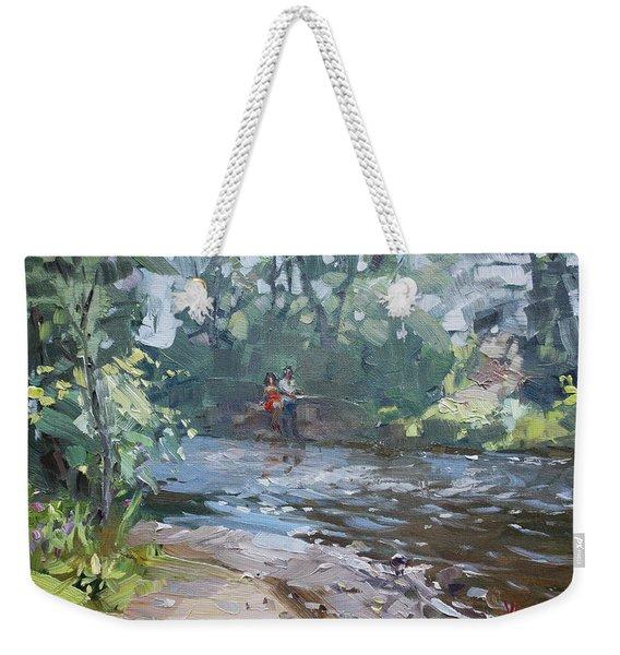 Fishing Day With Viola Weekender Tote Bag