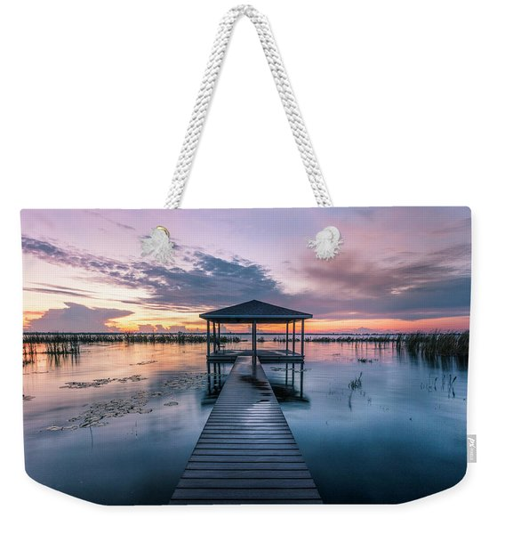 Fishing Dock Before Dawn Weekender Tote Bag