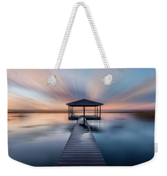 Fishing Dock Before Dawn Dreamscape Weekender Tote Bag