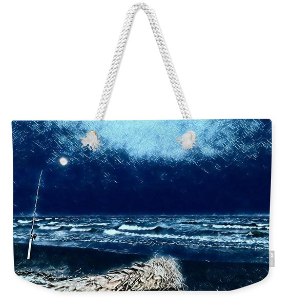 Fishing For The Moon Weekender Tote Bag