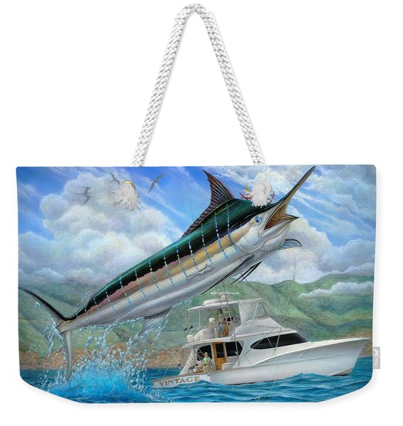 Fishing In The Vintage Weekender Tote Bag