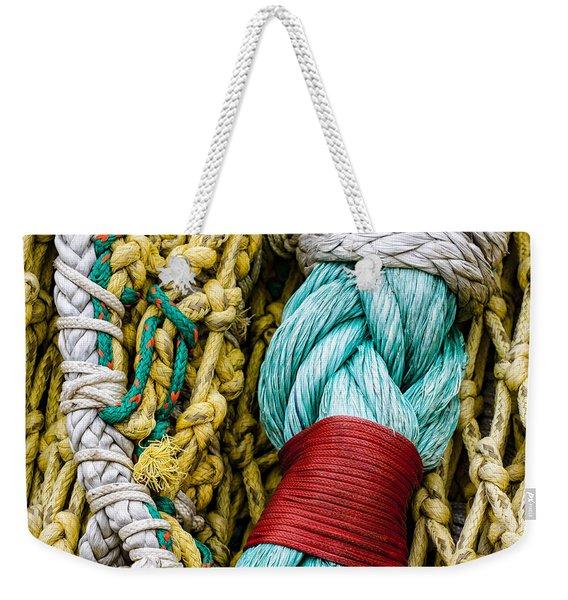 Fishing Net Detail Weekender Tote Bag