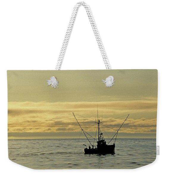 Fishing Off Santa Cruz Weekender Tote Bag