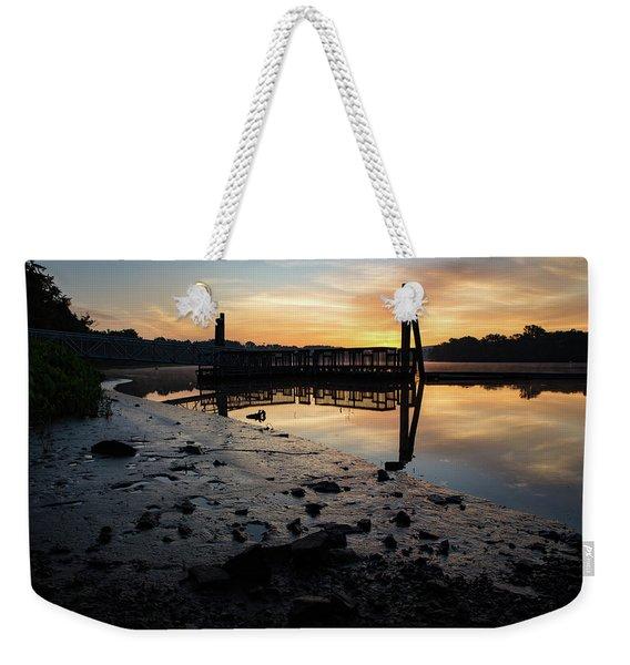 Fishing Pier At Dawn Weekender Tote Bag