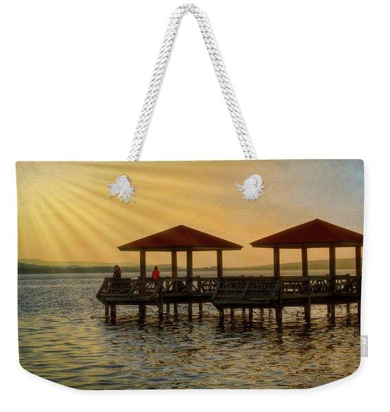 Fishing Pier Weekender Tote Bag