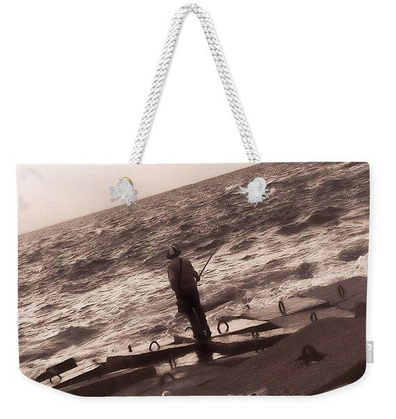 Men Fishing, Alexandria, Egypt Weekender Tote Bag