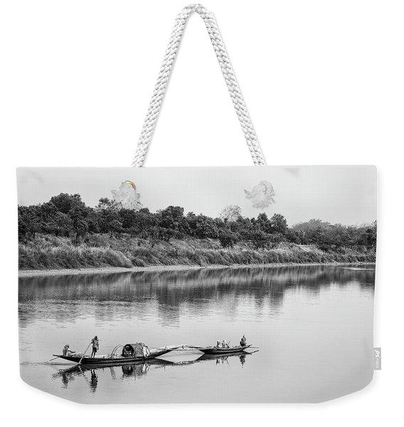 Fishing The Lower Ganges Weekender Tote Bag
