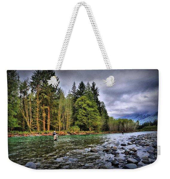 Fishing The Run Weekender Tote Bag