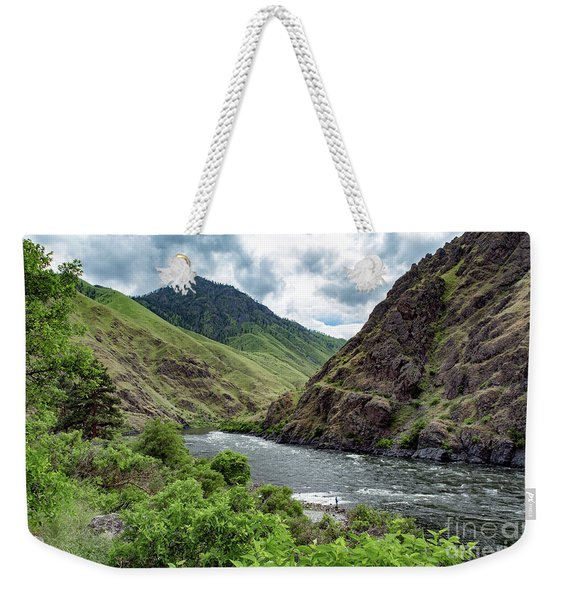 Fishing The Snake Waterscape Art By Kaylyn Franks Weekender Tote Bag