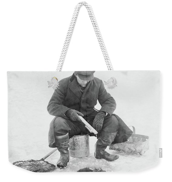 Fishing Through Ice Weekender Tote Bag