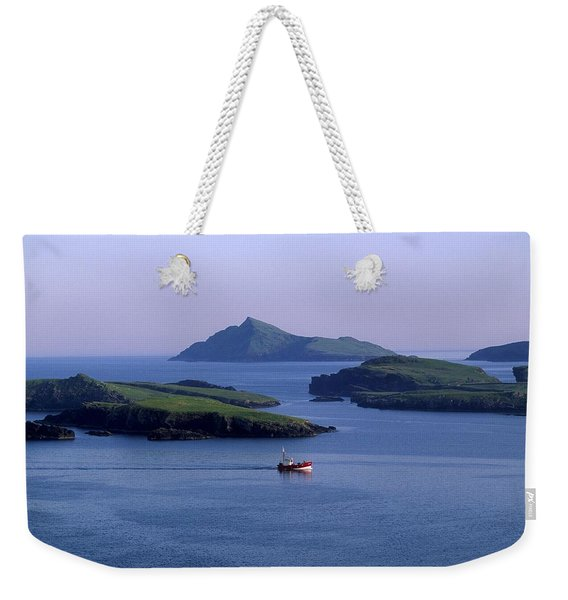 Fishing Trawler, Blasket Islands, Co Weekender Tote Bag