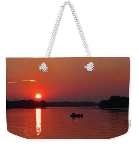 Fishing Until Sunset Weekender Tote Bag