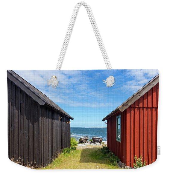 Fishing Village On Faro Island, Sweden Weekender Tote Bag