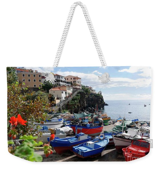 Fishing Village On The Island Of Madeira Weekender Tote Bag