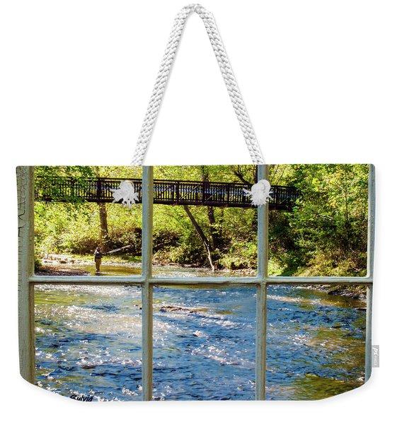 Fishing Window Weekender Tote Bag
