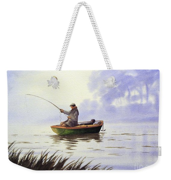 Fishing With A Loyal Friend Weekender Tote Bag