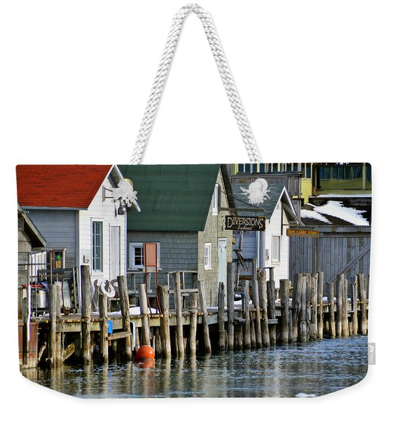 Fishtown In Leland Weekender Tote Bag