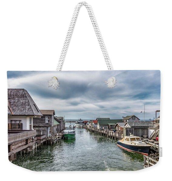 Fishtown Michigan In Leland Weekender Tote Bag