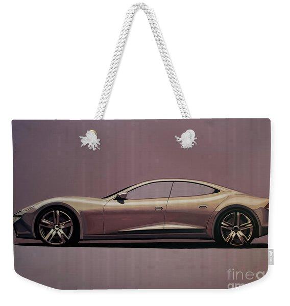 Fisker Karma 2012 Painting Weekender Tote Bag