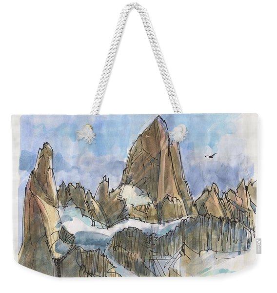 Fitz Roy, Patagonia Weekender Tote Bag