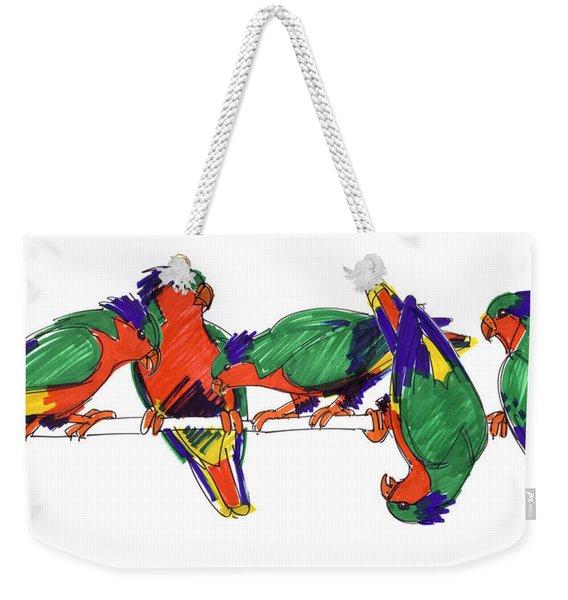 Five Rimatara Lorikeets Weekender Tote Bag