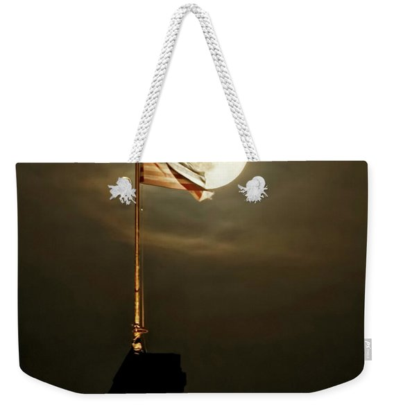 Flag And Moon -01 Weekender Tote Bag