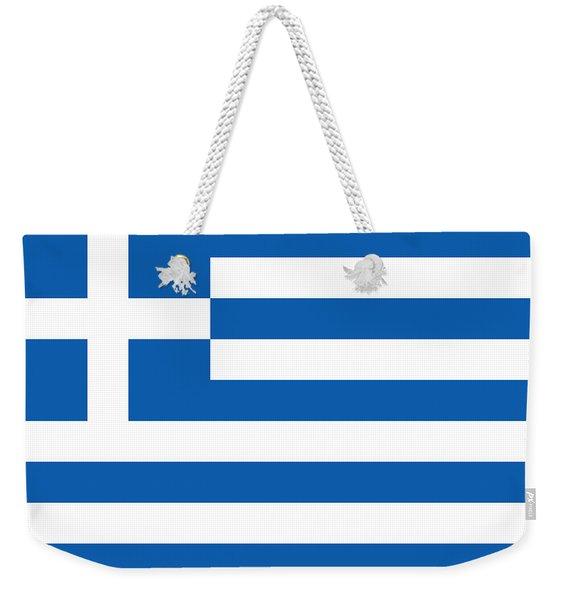 Flag Of Greece Weekender Tote Bag